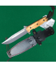 CUCHILLO FIGHTER BOWIE MANGO OLIVO 16 CM