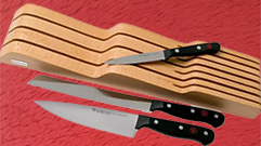 GOURMET KNIVES SET 3 PIECES + DRAWER SUPPORT